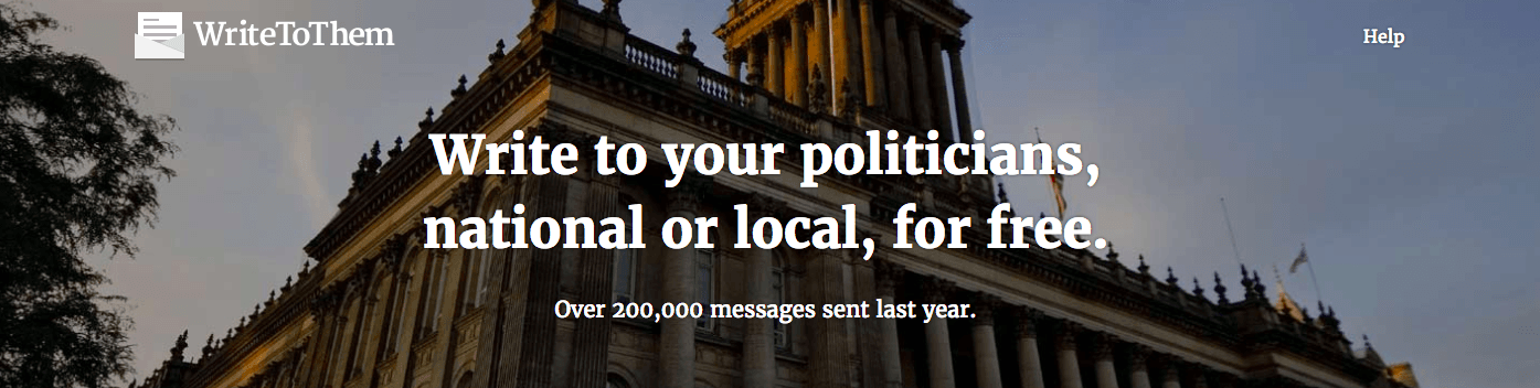 Write to your MP better britain UK candidates